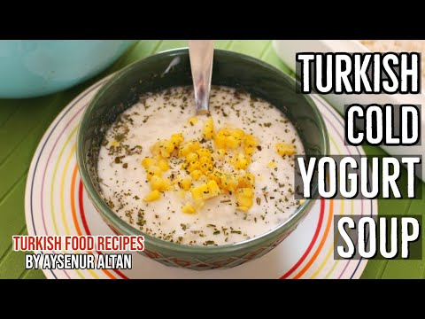 Turkish Cold Yogurt Soup With Two Ingredients
