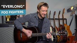 Everlong Acoustic Guitar Lesson Tutorial Foo Fighters Dave Grohl