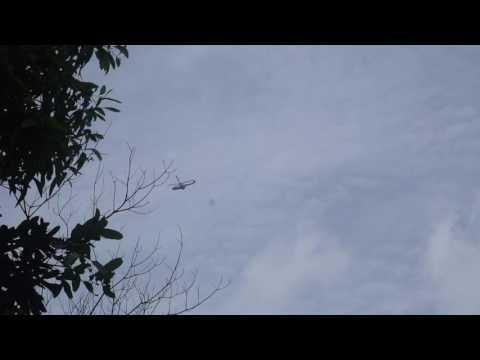 Trực thăng cứu hộ bay tìm máy bay rơi trên núi Dinh, Vũng Tàu