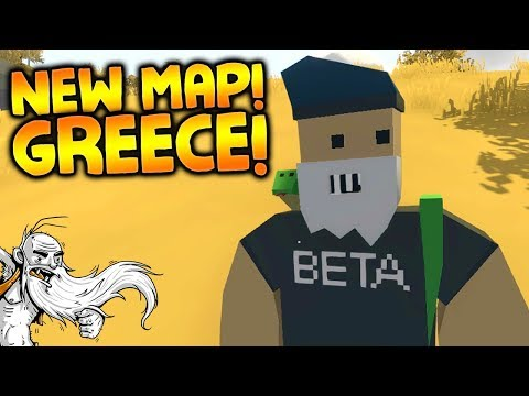 NEW GREECE MAP & MODS!!! - Let's Play Modded Unturned Greece Map Gameplay