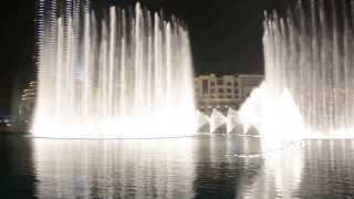 The Dubai Fountain with Arabic Song
