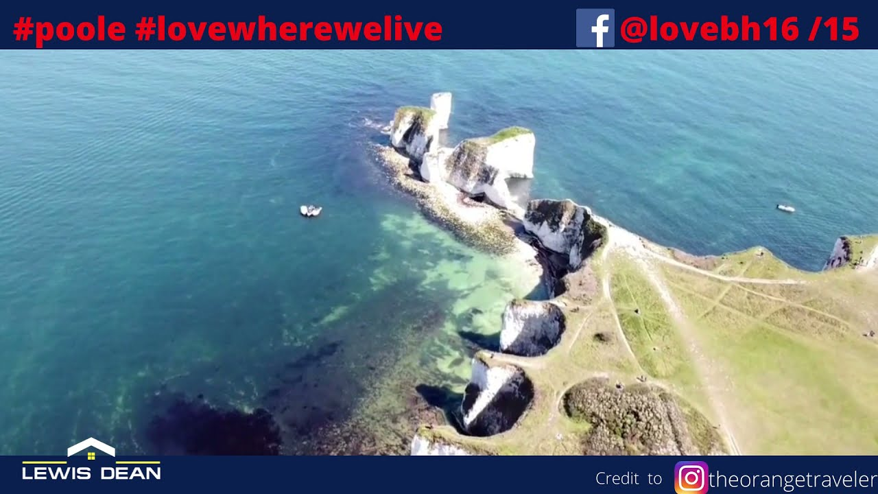 POOLE FROM ABOVE - NOW YOU CAN SEE WHY PEOPLE MOVE TO THE POOLE COAST!