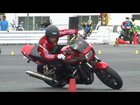 2017 7 23 Dunlop Moto Gymkhana ふっきー 選手 ZRX 1100 h 1 & h 2