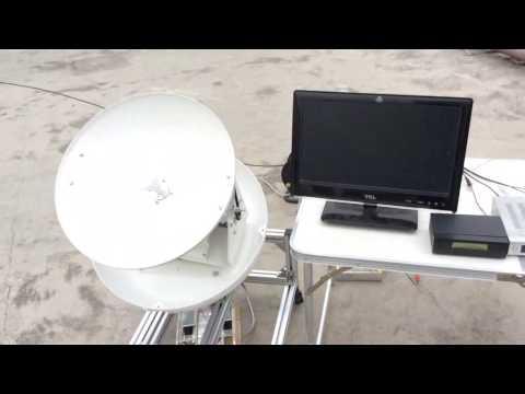 Dotogo Marine Satellite TVRO Antenna Lock onto satellite in motion