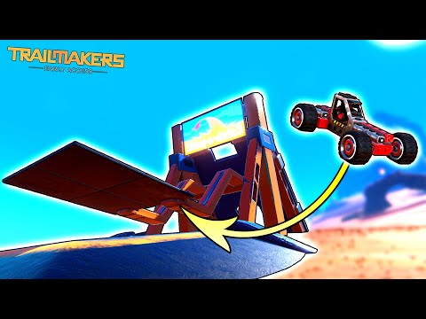 Can a Car Survive This GIANT CATAPULT? - Trailmakers Early Access Gameplay