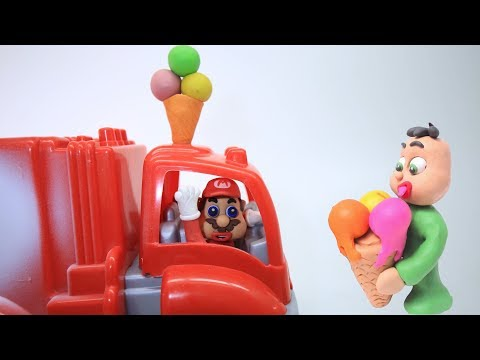 BABY SUPERHEROES ICE CREAM TRUCK - Clay & Play Doh Animated Movies For Kids