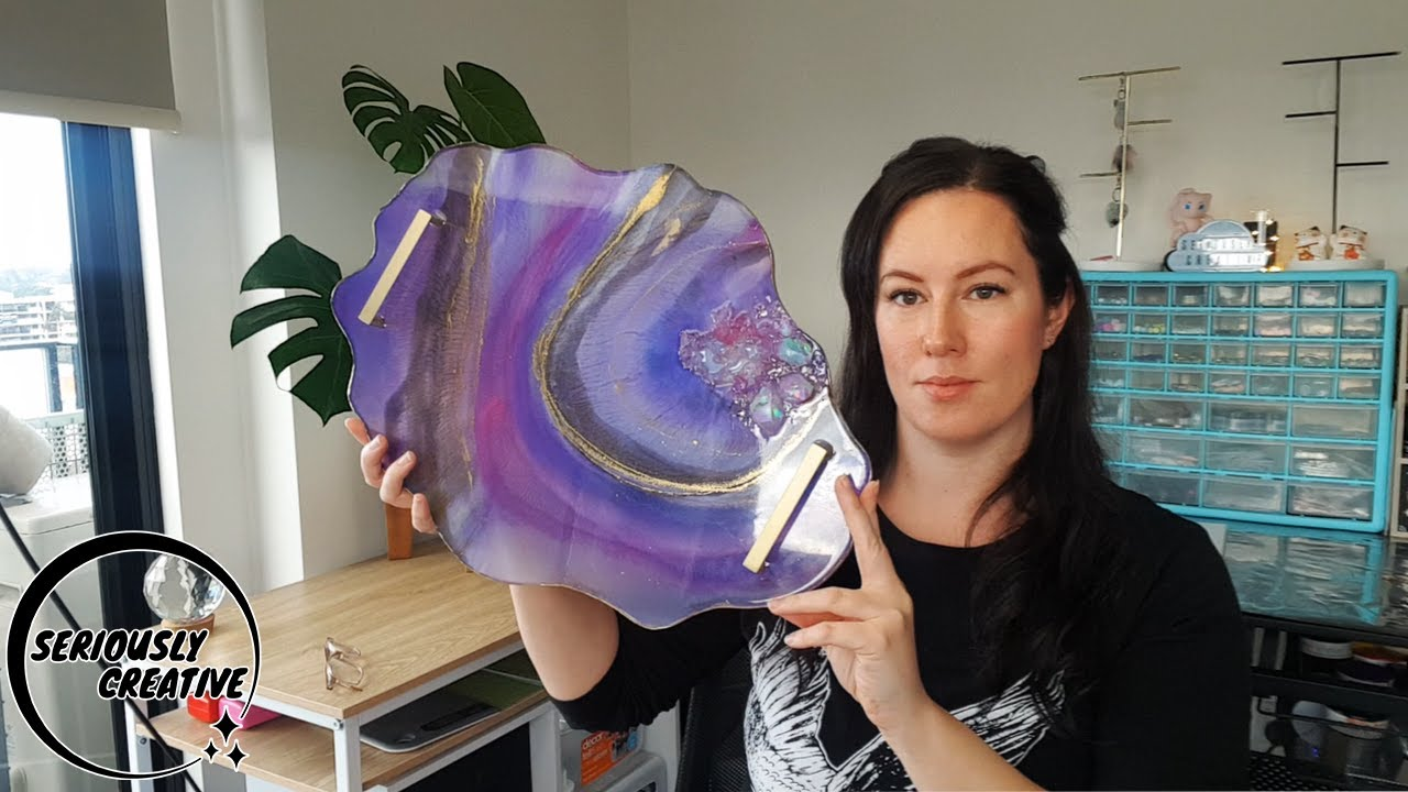 Watch Me Resin #54   Huge Crystal Geode Tray   Seriously Creative
