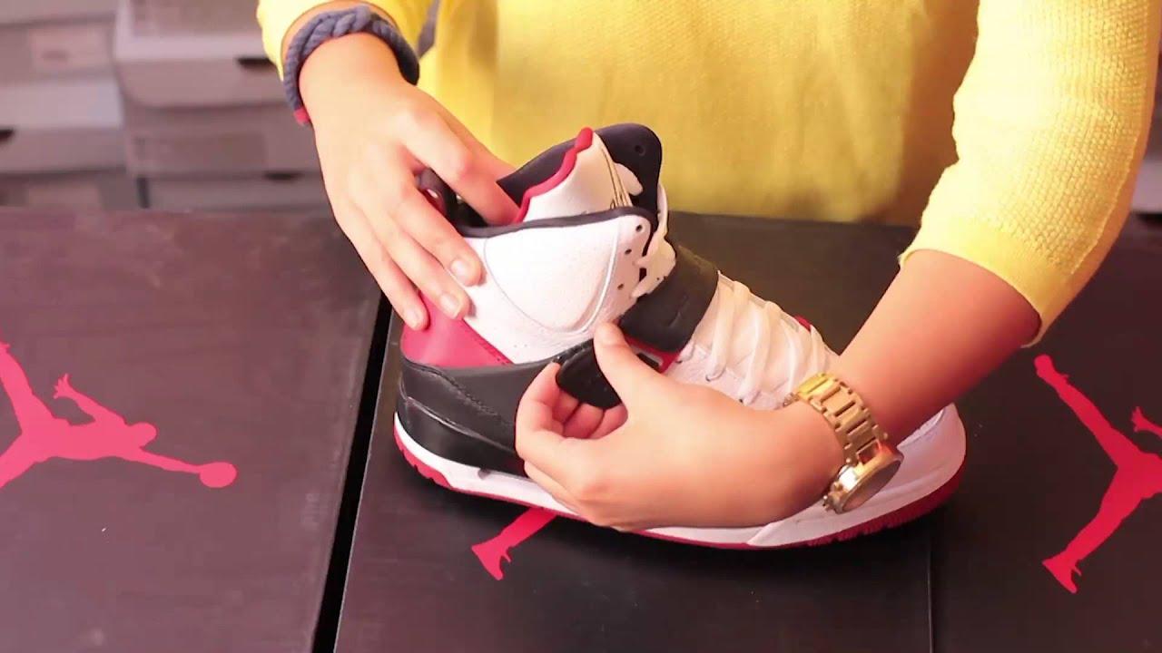 nike magasin d'usine - Basket Air Jordan Flight 45 Blanc Rouge Noir 616816 130 - YouTube