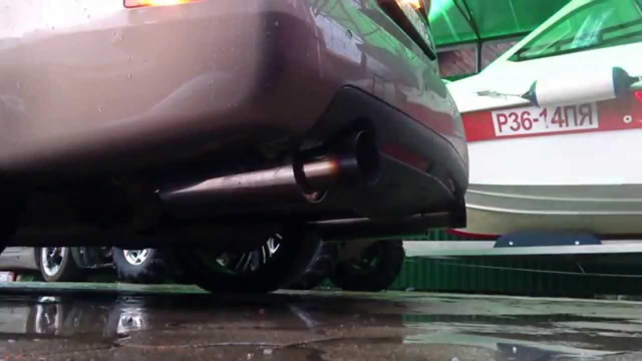 My custom exhaust on Cadillac STS '07 4,6 NorthStar - YouTube
