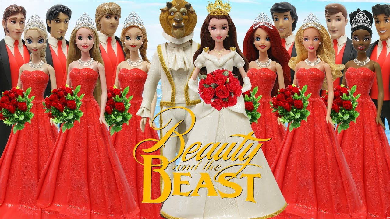 Beauty And The Beast Bridesmaid Dresses: Play Doh Wedding Dress Beauty & The Beast Disney Prince