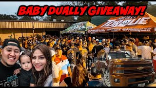 BABY DUALLY GIVEAWAY! TRUCK OR 15K CASH!!