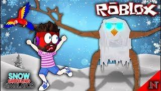 ROBLOX indonesia #97 Snow Shoveling Simulator | Update Melawan Boss Cave Sendirian dan Pets Baru