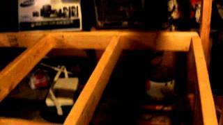Homemade Basement Shelf