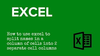 Split One Cell into Two in Excel