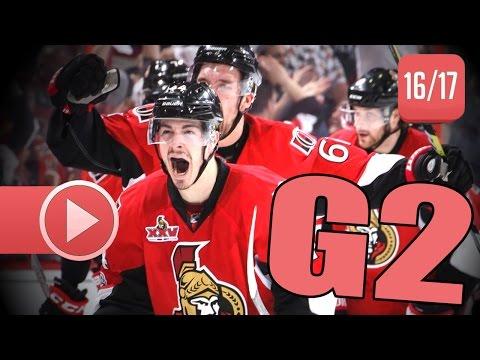 New York Rangers vs Ottawa Senators. 2017 NHL Playoffs. Round 2. Game 2. April 29th, 2017. (HD)