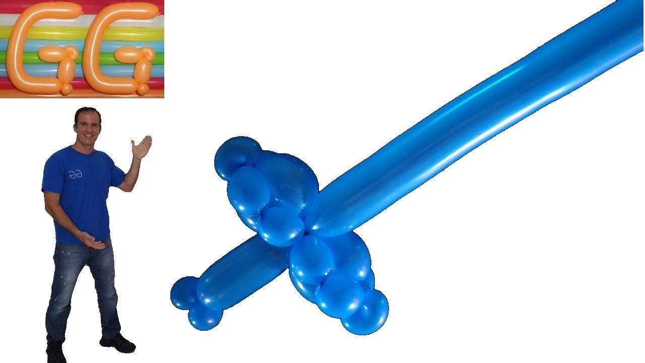 Como hacer una espada con globos globoflexia espada - Como hacer figuras con globos ...