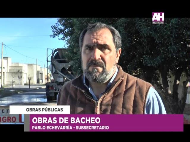 PABLO ECHEVARRIA   SUBSECRETARIO DE OBRAS PUBLICAS   OBRAS DE BACHEO