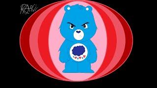 Drawing New Care Bear Version Grumpy Blue