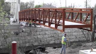 M Station - Pedestrian Bridge Installation