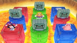 Mario Party 4 - 4 Player Minigames - Mario Waluigi Wario Peach All Funny Mini Games (Master CPU)