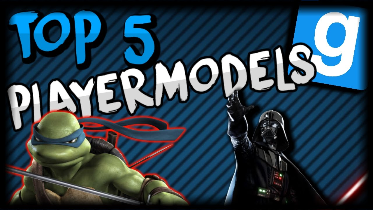 TOP 5 BEST GMOD PLAYERMODELS/SKINS (2016)