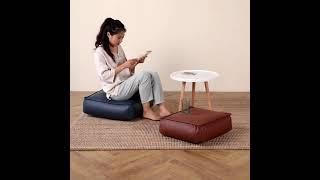 가죽 방수 사각 좌식 방석 벤치 의자 쇼파 쿠션 낮은 …