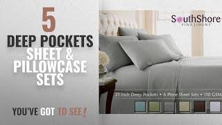 Top 10 Deep Pockets Sheet & Pillowcase Sets [2018]: Southshore Fine Linens Extra Deep Pocket Sheet