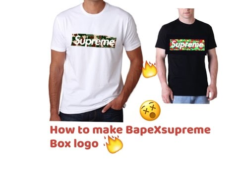 How To Make A Supreme X Bape Box Logo For 6 Part 2