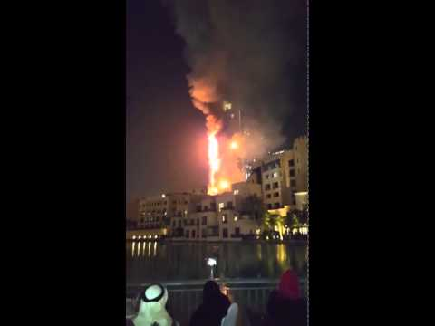 Dubai Fire  (The Address Hotel) Snap chat story