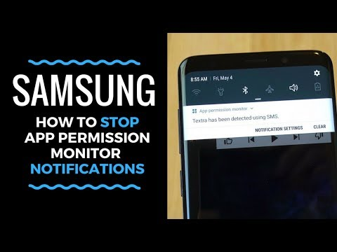How to Stop Samsung App Permission Monitor Notifications