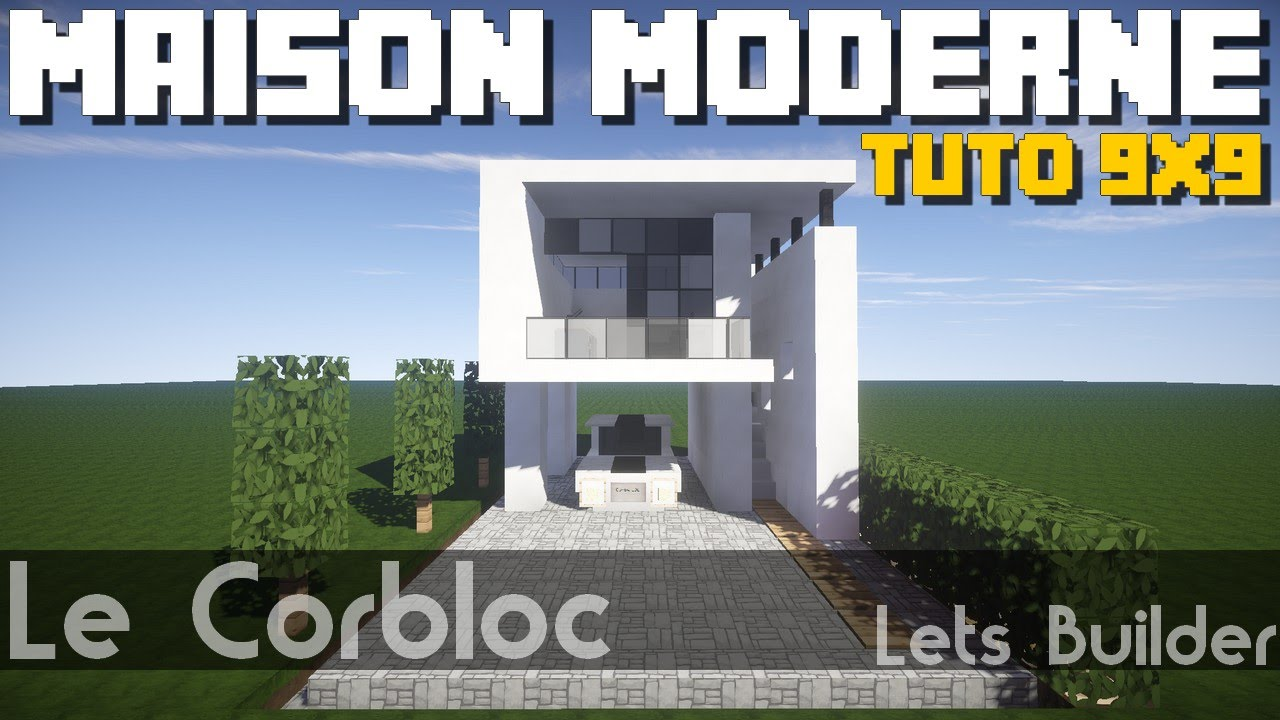 Minecraft tuto maison moderne 9x9 youtube for Minecraft maison moderne avec xroach