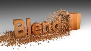 Вытачивание надписи из дерева в Blender