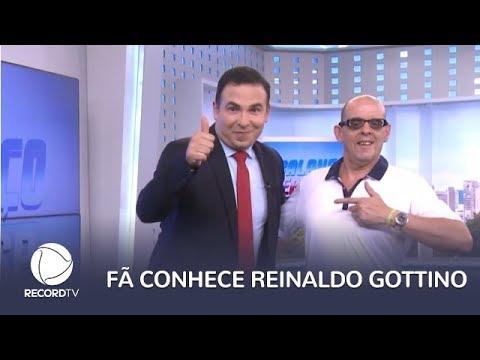 Fã se emociona ao conhecer Reinaldo Gottino