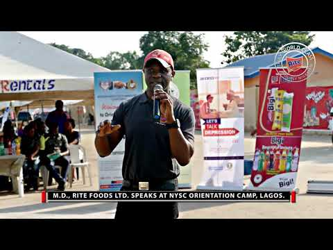Nigeria First! - M.D. Rite Foods speaks to NYSC corp members