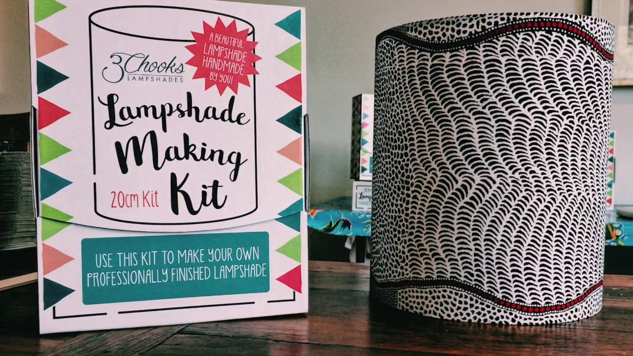 making a lampshade using the 3chooks lampshade making kit time lapse