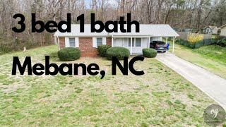 Just Listed 3 bed 1 bath 505 Lancaster Rd Mebane NC