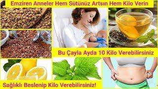 Emziren Anneler Sağlıklı Şekilde Ayda 10 Kilo Verebilirsiniz!/Doğum Kilolarında Kurtulun