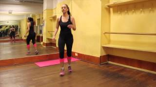 Come si fa lo chassè diagonale: Esercizi per riscaldare le gambe per fare fitness in casa