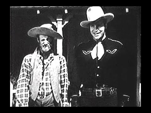 """Buster Crabbe as Billy The Kid - Panhandle Trail - with  Al """"Fuzzy"""" St. John"""