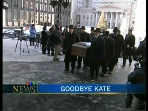Kate McGarrigle Funeral on TV News part 1 of 2