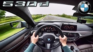 2017 BMW 5 Series G30 530d M Sport AUTOBAHN POV ACCELERATION & TOP SPEED by AutoTopNL