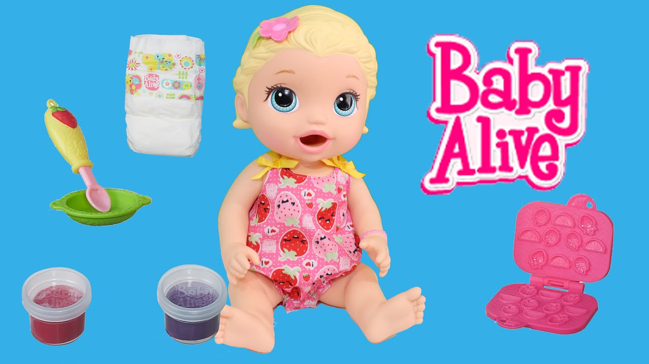 ab014bc961 Boneca Baby Alive Lanchinhos Divertidos Loira Snackin Lily Toy Review  ToysBR - YouTube