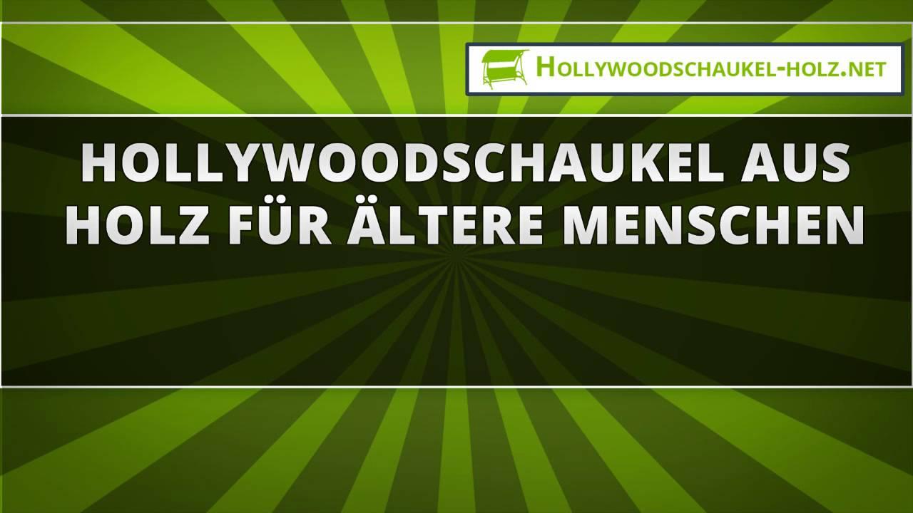 48 hollywoodschaukel aus holz für ältere menschen - youtube, Moderne