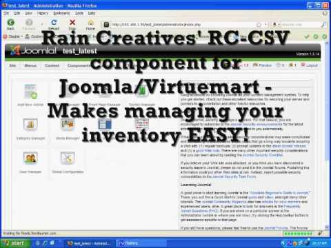 Virtuemart Tutorial - Using CSV Templates - Killer Joomla Component ...