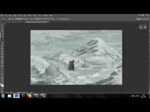 Fantasy snow landscape – digital art