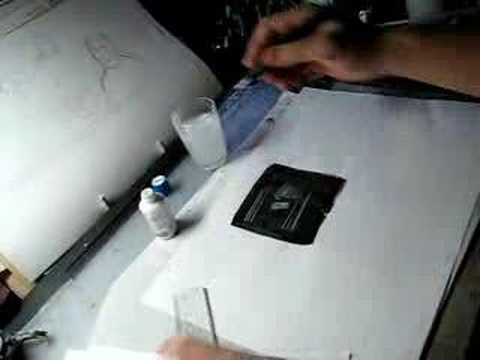 漫画の描き方/ベタにホワイトで線を引く