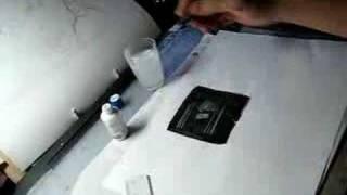 漫画の描き方/ベタにホワイトで線を引く thumbnail