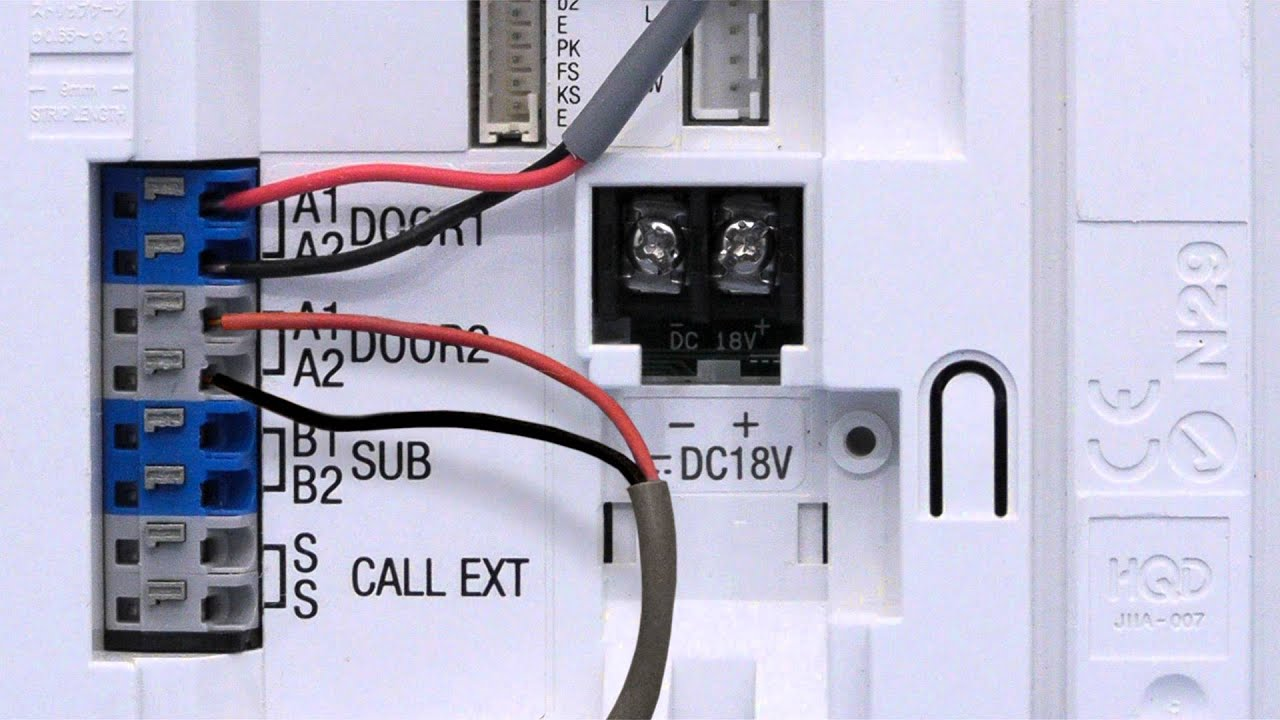 maxresdefault jf series wiring door stations and power supply youtube aiphone intercom wiring diagram at soozxer.org