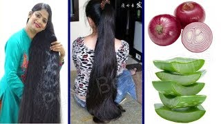 How To Grow Long and Thicken Hair Faster With Onion !! Super Fast Hair Growth Challenge!