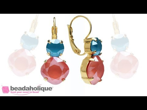How to Make Earrings with Gita Settings for Swarovski Crystals